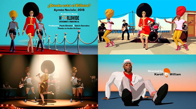 Aymée Nuviola - ¨¿Donde está el billete?¨ - Videoclip / Dibujo Animado - Director: Karoll William. Portal Del Vídeo Clip Cubano
