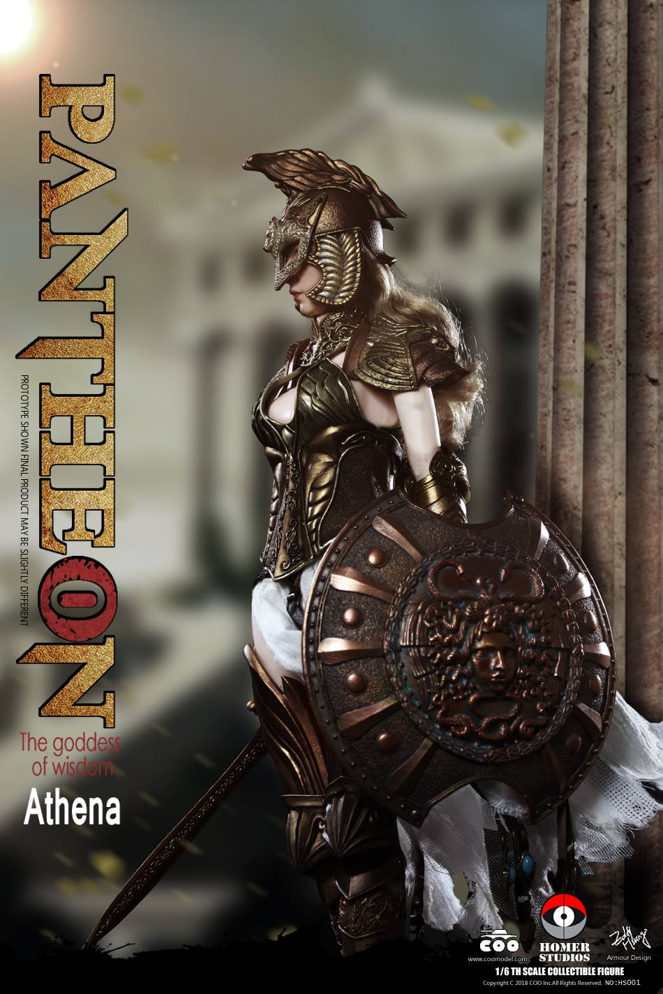 1//6 Scale COOMODEL HS001 ATHENA GODDESS OF WISDOM gold sword