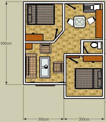 25 Desain Gambar Rumah Minimalis 2 Kamar 2017