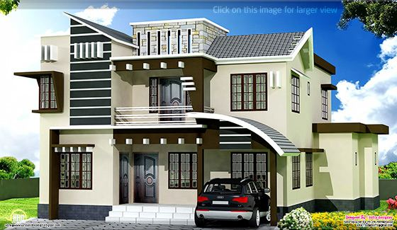 January 2013 kerala home design and floor plans for Variety home designs
