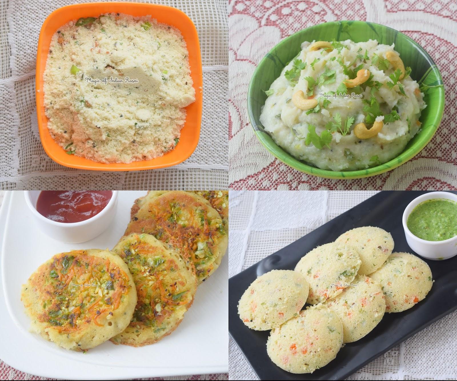 1 Mix 3 Breakfast Recipes -  एक प्रीमिक्स में से ३ अलग नाश्ते बनाये - Priya R - Magic of Indian Rasoi