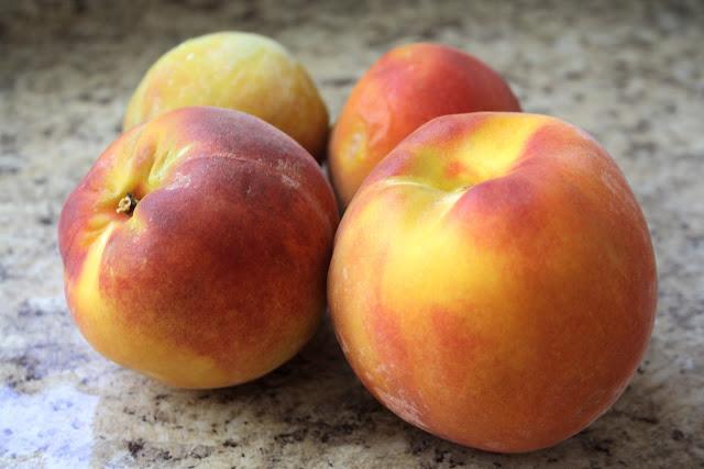 Peach Cake with Cinnamon Glaze www.ButterwithaSideofBread.com