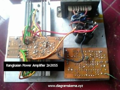 Rangkaian Amplifier 60 Watt 2N3055