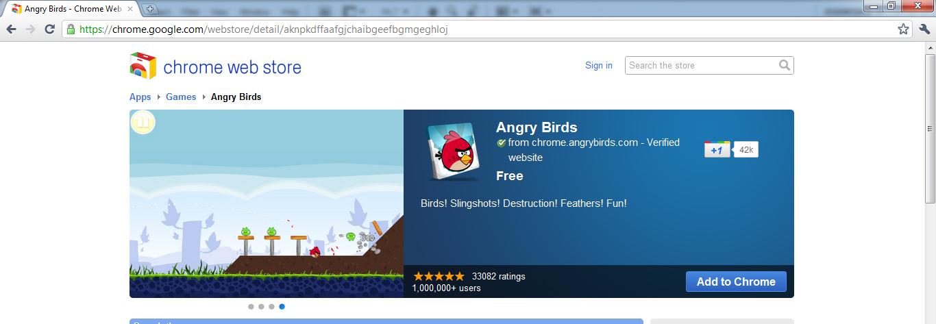 Angry Birds Google Chrome