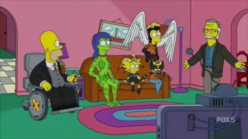 tan Lee sangat dicintai sehingga ia bahkan muncul dalam tiga episode The Simpsons