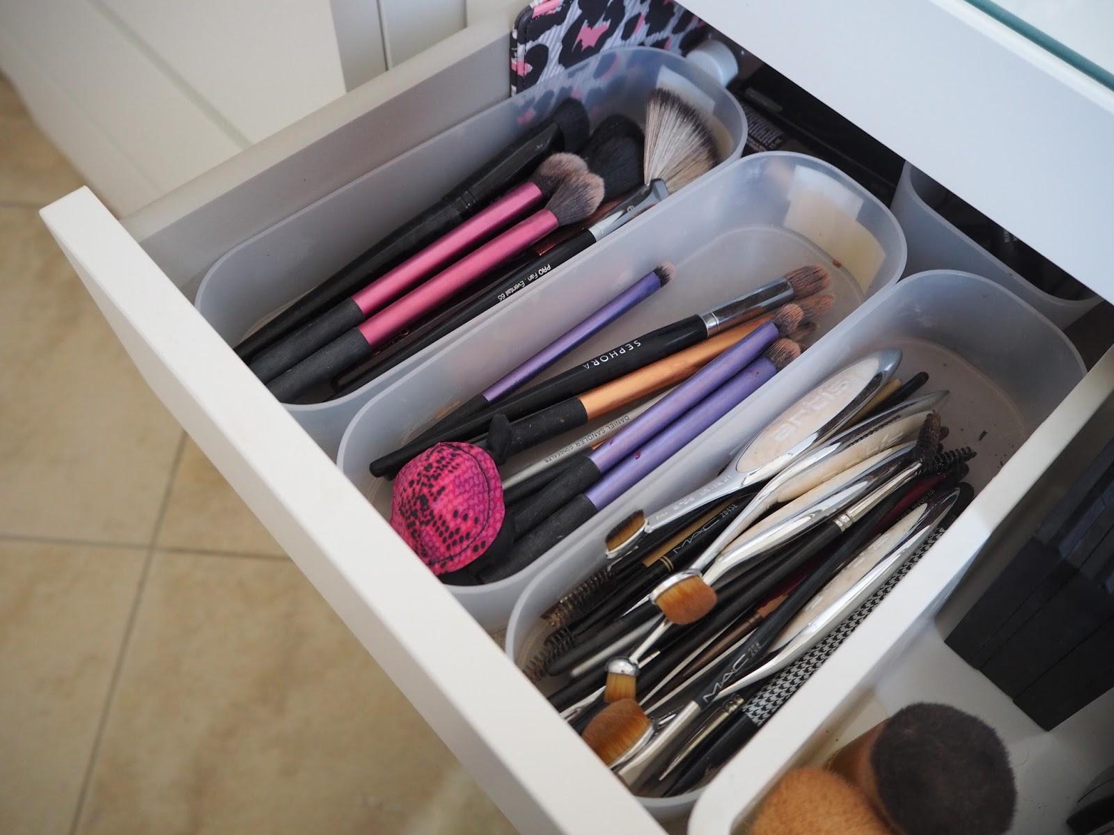 make up storage ideas ikea malm dressing table