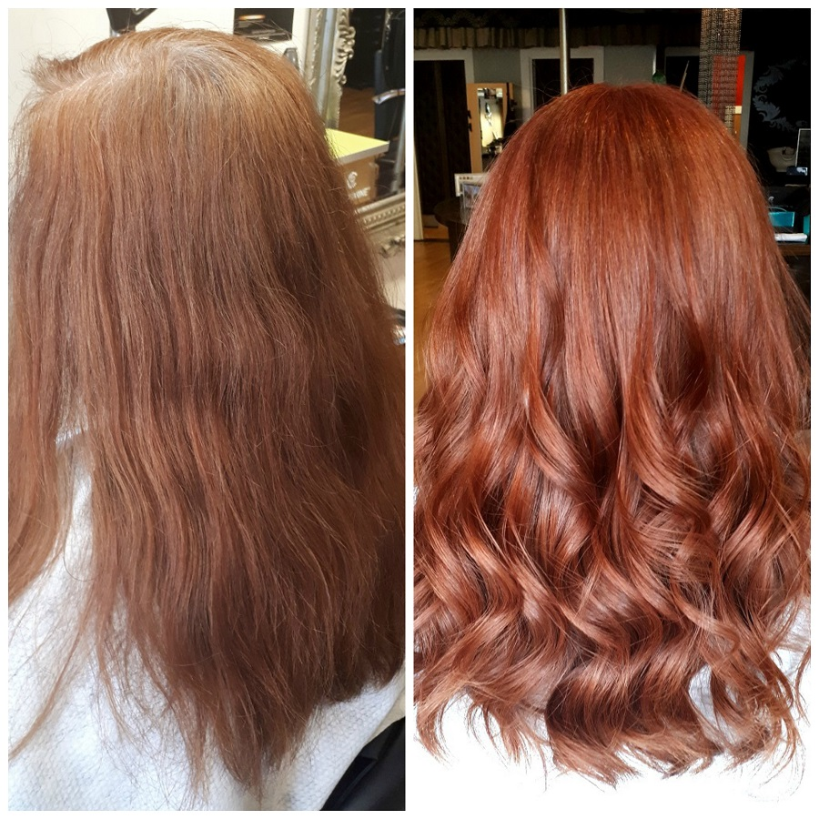 Red Hair, Before and After, Hairoscope, Coleraine, NI blog, The Style Guide Blog, natural red head style