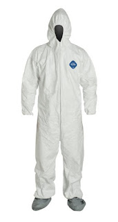 Tyvek Ty122S-Md Coveralls With Elastic Wrist/Ankle & Hood/Boot, Medium, 25/Case
