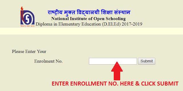 nios enrollment page