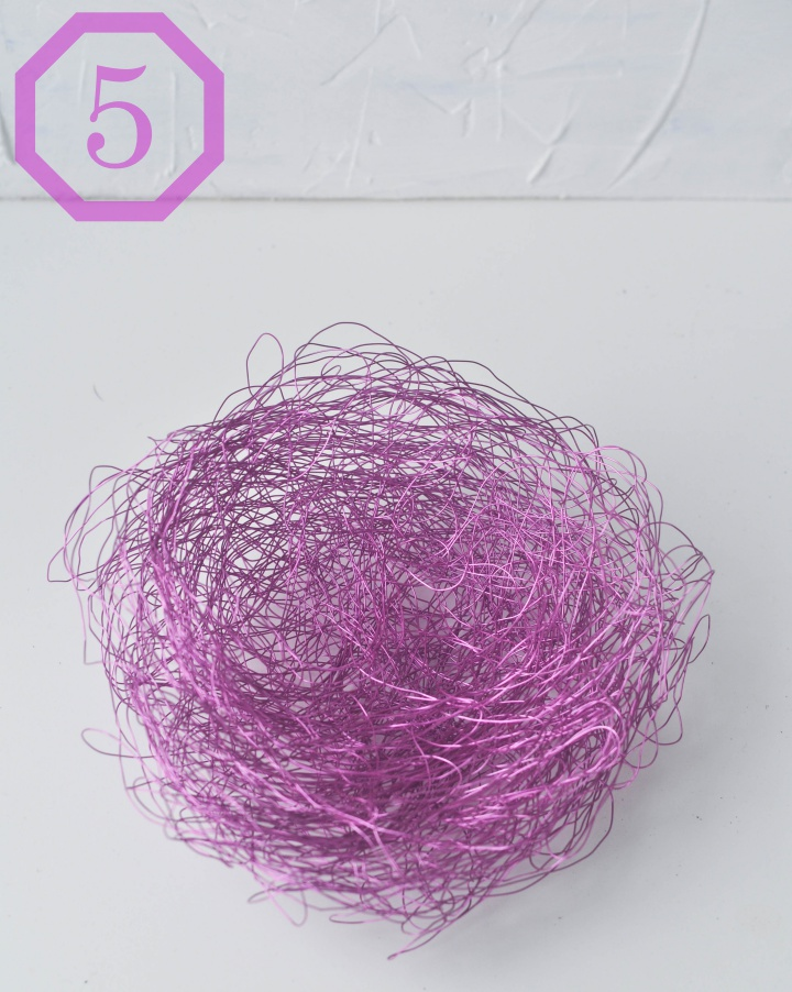 DIY wire baskets - step 5