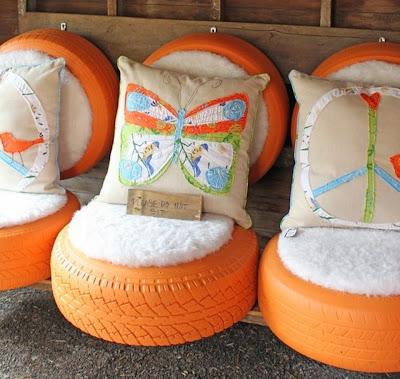 Proyecto DIY para reciclar llantas, sillon