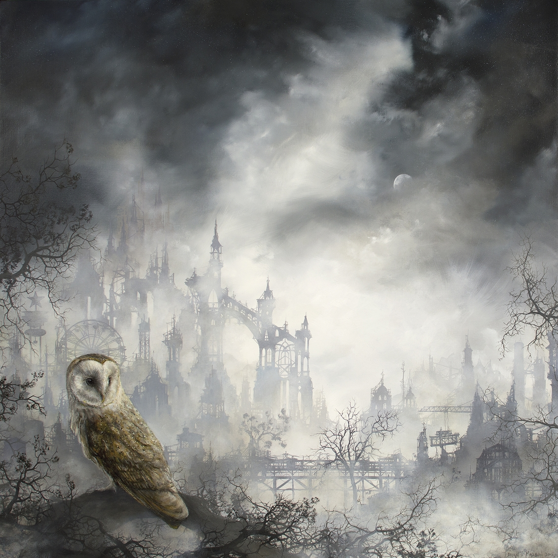 01-Barn-Owl-Brian-Mashburn-Architecture-in-Paintings-of-Urban-and-Industrial-Landscapes-www-designstack-co