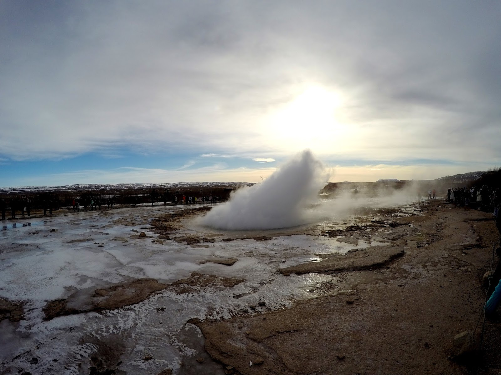 Geysir na Islandii Golden Circle
