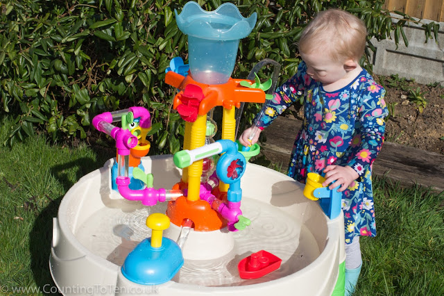 Looking down on the Little Tikes Fountain Factory Water Table