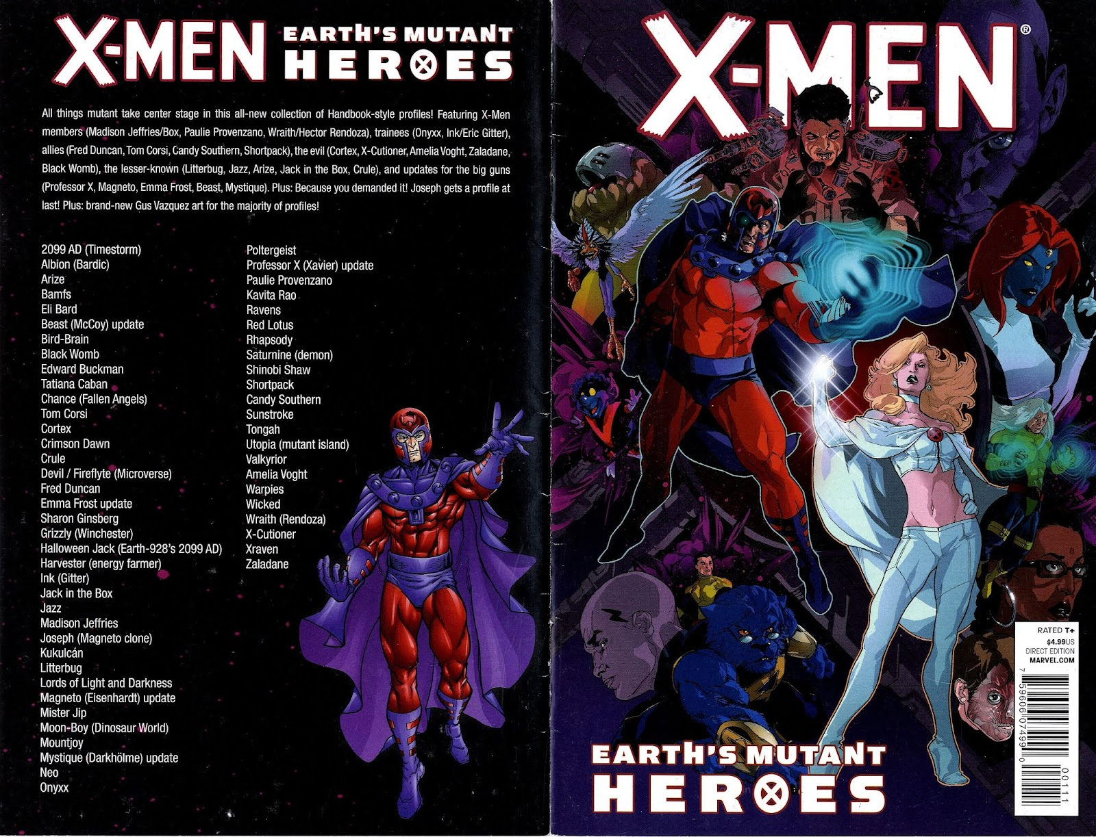 X-Men: Earth's Mutant Heroes Full Page 1