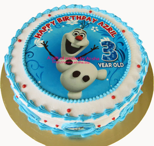 Birthday Cake Edible Image Olaf Disney Frozen