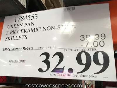 Deal for the Green Pan Healthy Ceramic Non-Stick Skillets at Costco