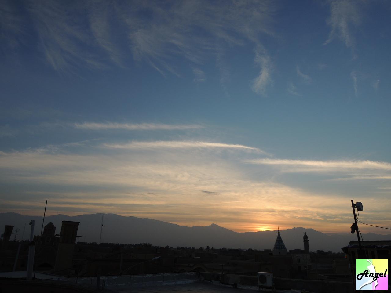 amir ahmad bathhouse sunset kashan iran