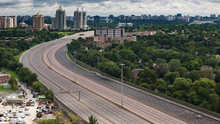 Freeway empty on weekends