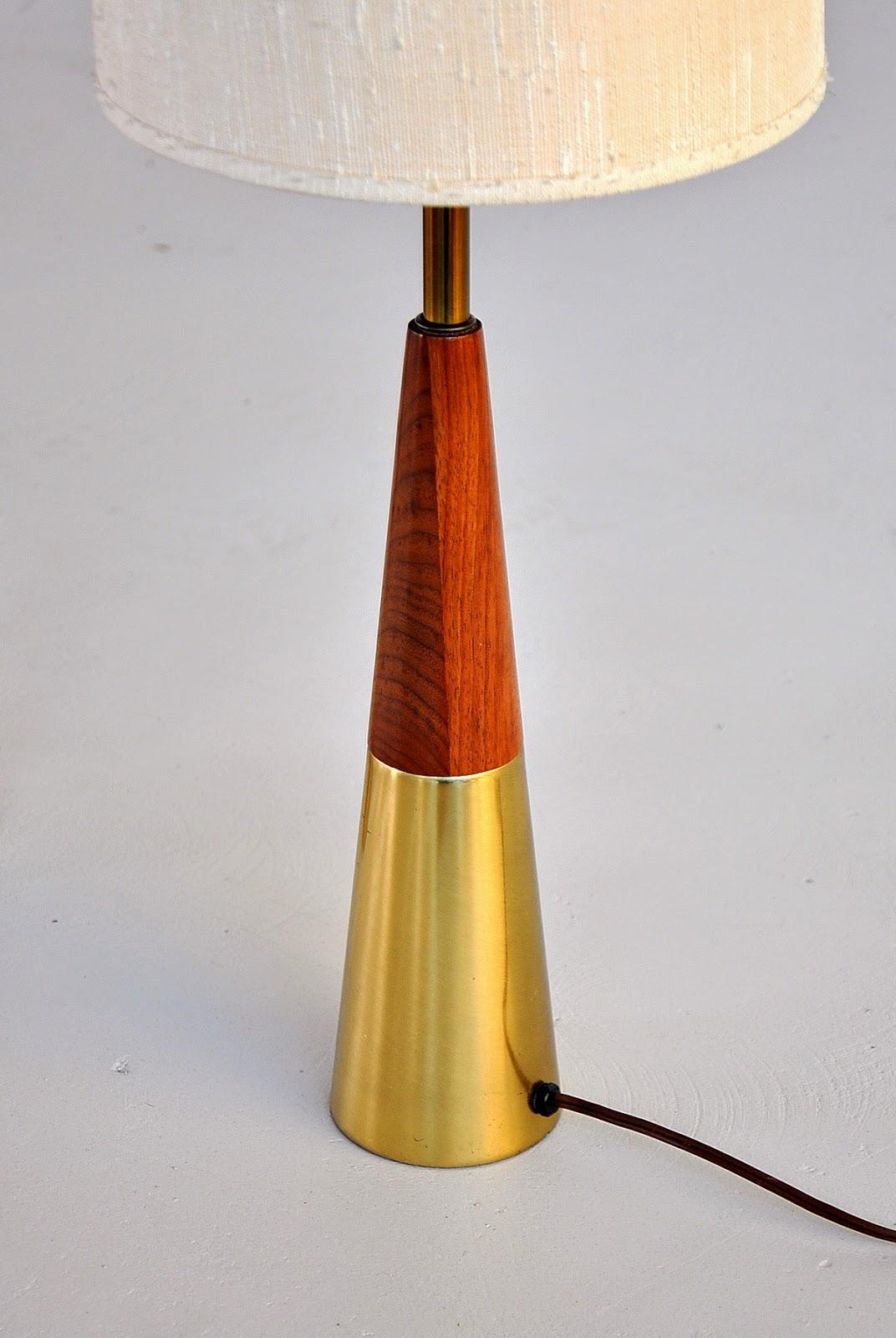 Select Modern Pair Of Tony Paul Cone Lamps