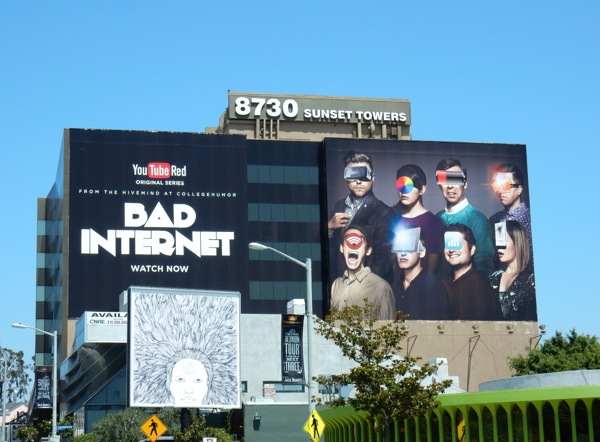 Giant Bad Internet YouTube Red billboard
