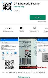 install aplikasi QR & Barcode Scanner