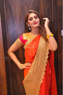 Surabhi looks stunning in Saree at Nakshatra Fashion Store Launch at Suchitra X Road 09.JPG