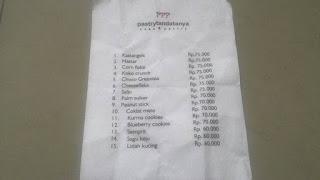 Daftar Harga Kue Kering Lebaran Bandung