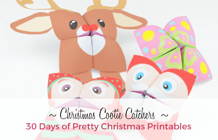 Free Christmas Cootie Catchers from Red Ted Art. 30 Days of Pretty Christmas Printables blog series hosted by GradeONEderfulDesigns.com