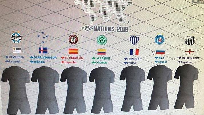 8c7e66a75c Clubes patrocinados pela Umbro homenagearão seleções da Copa do Mundo