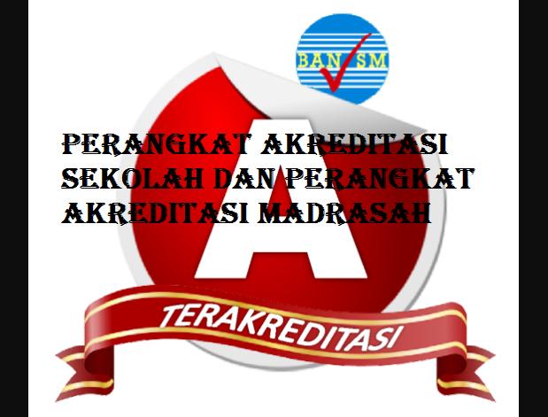 Download Perangkat Akreditasi Sekolah dan Perangkat Akreditasi Madrasah
