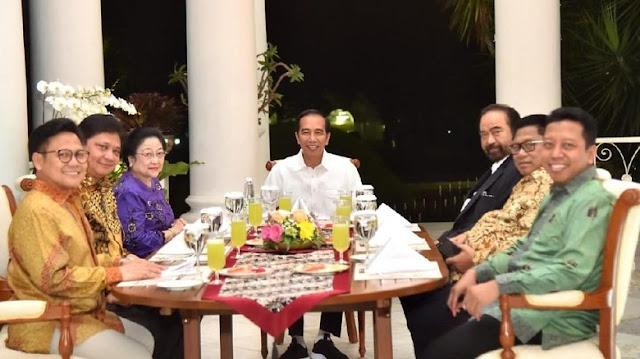 6 Ketum Parpol Bertemu Jokowi Bahas Pencapresan, 1 Nama Cawapres Disepakati, Sebentar Lagi Diungkap Orangnya....