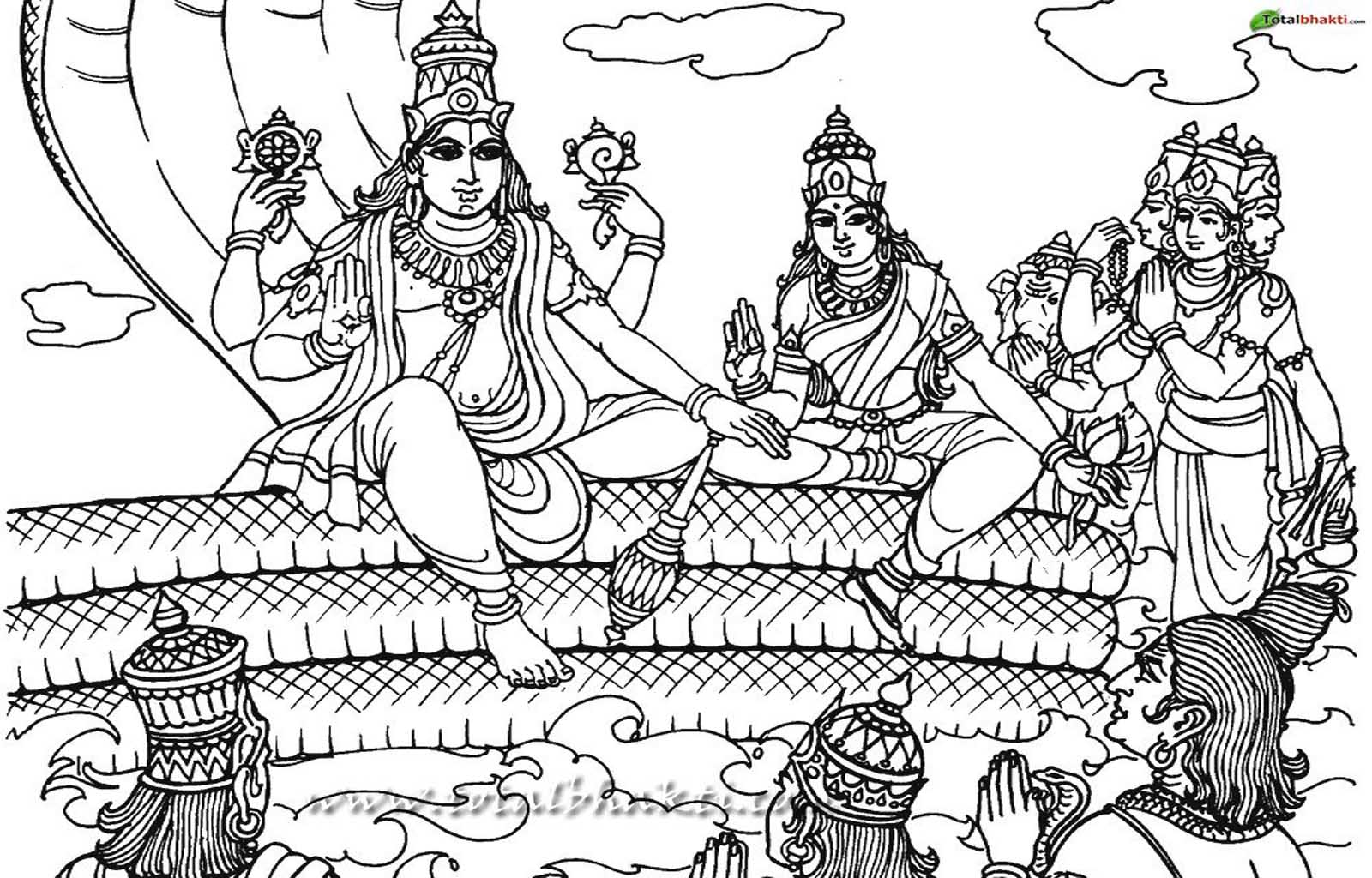 lord brahma coloring pages - photo#20