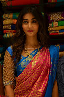 Puja Hegde looks stunning in Red saree at launch of Anutex shopping mall ~ Celebrities Galleries 063.JPG
