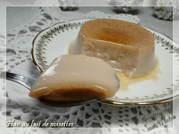 Flan au lait de noisettes, sans lactose