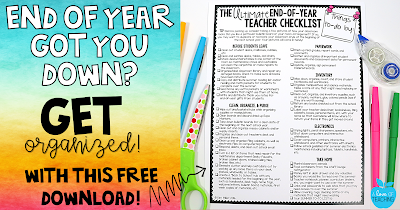 FREE End of Year Teacher Checklists