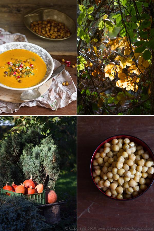 marokańska zupa dyniowa krem z prażoną cieciorką