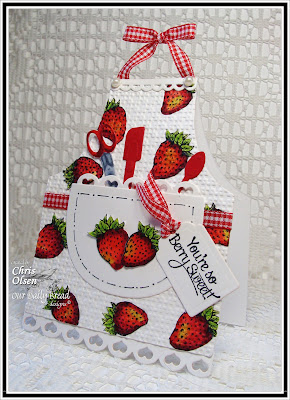 Our Daily Bread Designs, Apron and Tools Die, Recipe Card and Tags Die, Strawberries, Strawberries & Pickles, Chris Olsen