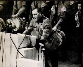 Nazi Speaker Kuhn in New York Rally 1939