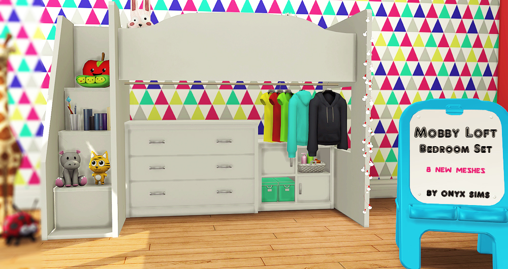 my sims 4 blog mobby loft bedroom set by kiararawks