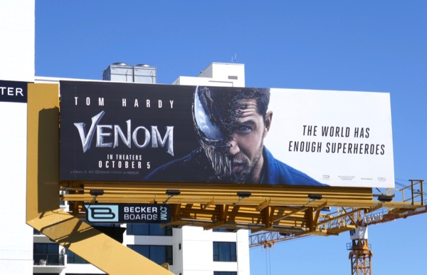 Venom movie billboard