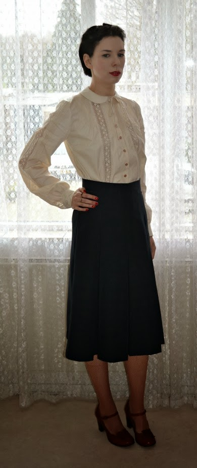 Vogue 6136 Blouse and skirt made by Anthea