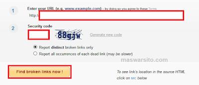 Cara Mengecek URL yang mati, URL tidak aktif, Broken Link dan Cara Memperbaikinya