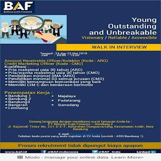 Karir Lowongan Kerja Bussan Auto Finance  BAF Bandung Terbaru 2018