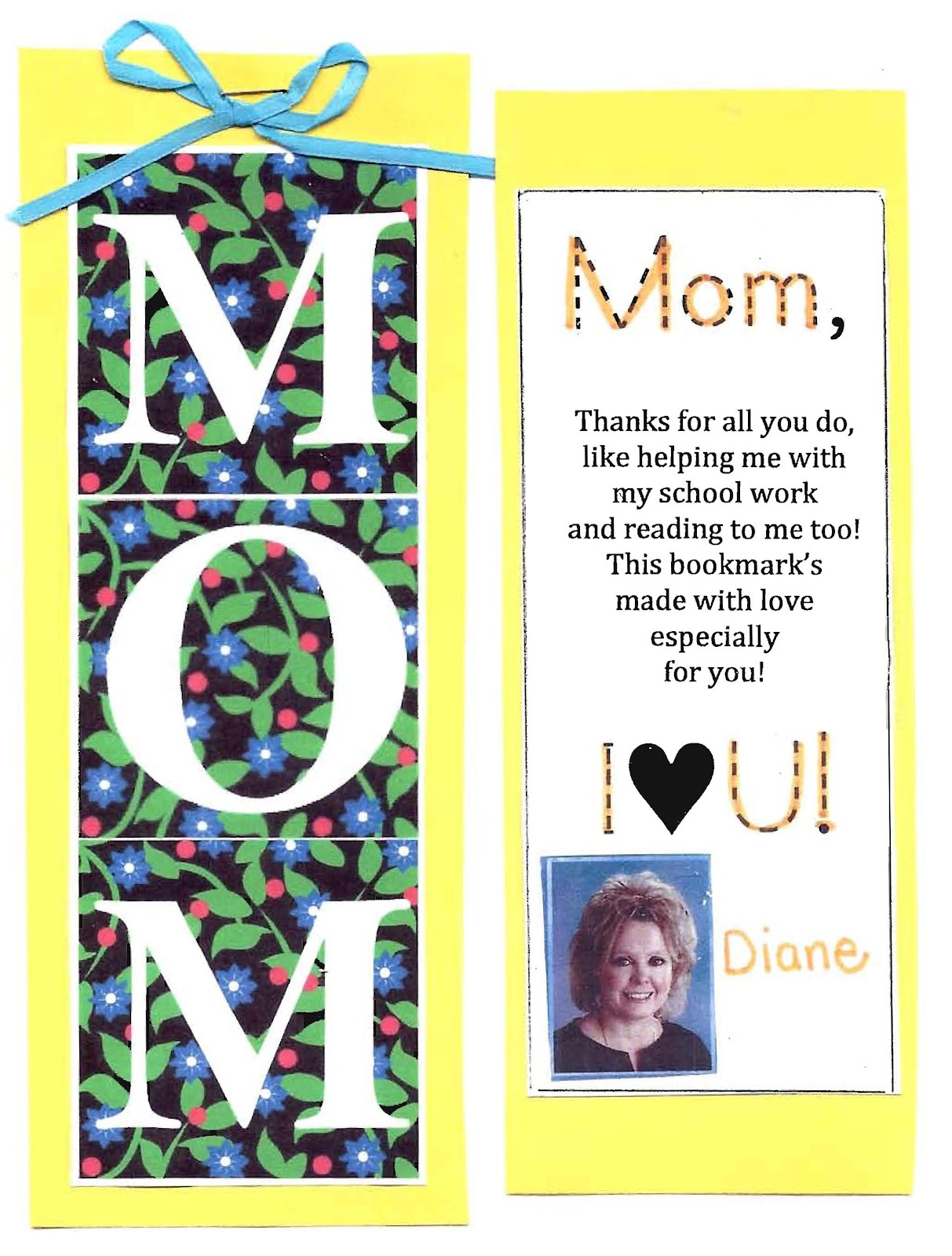 Mothers Day Bookmark Poem Mother Day Crafts To Make At Home