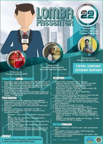 Ikuti Lomba Presenter di Univ. Ahmad Dahlan 2018