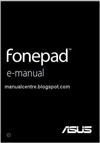 Asus Fonepad  Manual Cover