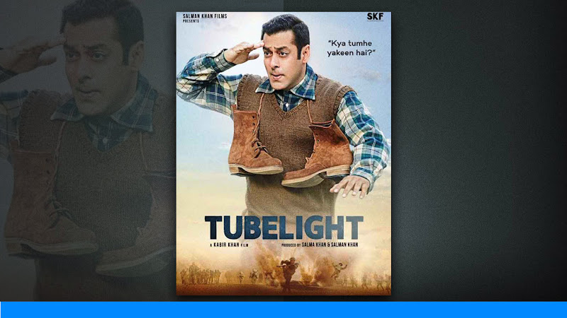 "Poster Released for Salman Khan's Upcoming Film ""TUBELIGHT"" Bollywood Superstar Salman Khan's upcoming historical war drama film ""Tubelight"", which is directed and written by Kabir Khan. Starring Salman Khan, Sohail Khan, Chinese actress Zhu Zhu and others."