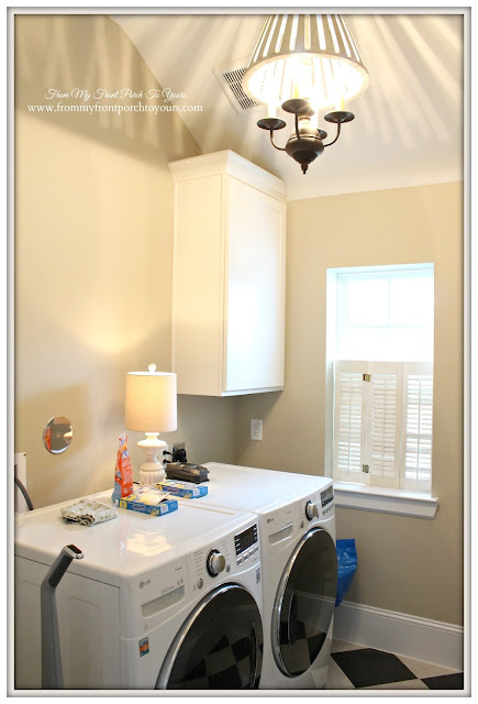 Greige Paint-Farmhouse Laundry Room-From My Front Porch To Yours