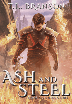 Updated cover design of Ash and Steel by T.L. Branson
